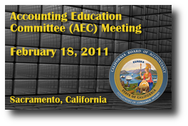 Accounting Education Committee (AEC) Meeting - February 18, 2011
