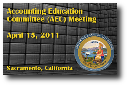 Accounting Education Committee (AEC) Meeting - April 15, 2011