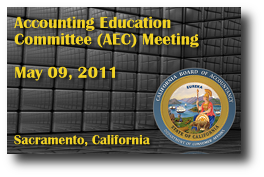 Accounting Education Committee (AEC) Meeting - May 09, 2011