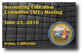 Accounting Education Committee (AEC) Meeting - June 23, 2010