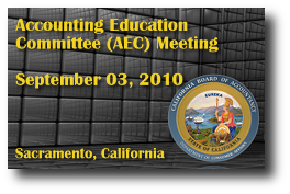 Accounting Education Committee (AEC) Meeting - September 03, 2010