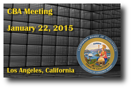 CBA Meeting - January 22, 2015