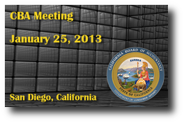 CBA Meeting - January 25, 2013