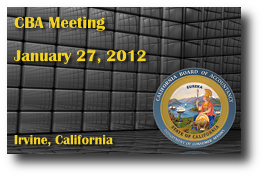CBA Meeting - January 27, 2012