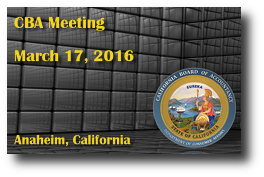 CBA Meeting - March 17, 2016