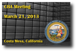 CBA Meeting - March 21, 2013