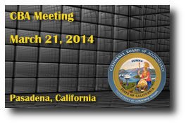 CBA Meeting - March 21, 2014