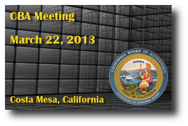 CBA Meeting - March 22, 2013