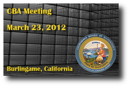 CBA Meeting - March 23, 2012