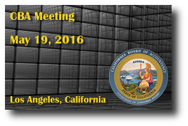 CBA Meeting - May 19, 2016