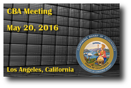 CBA Meeting - May 20, 2016