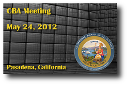 CBA Meeting - May 24, 2012