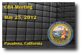 CBA Meeting - May 25, 2012