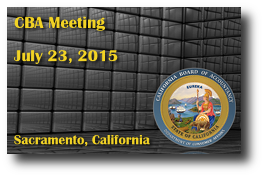 CBA Meeting - July 23, 2015
