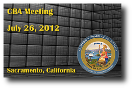 CBA Meeting - July 26, 2012