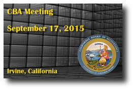 CBA Meeting - September 17, 2015