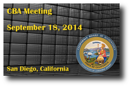 CBA Meeting - September 18, 2014