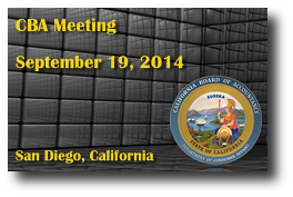CBA Meeting - September 19, 2014