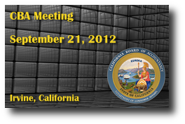 CBA Meeting - September 21, 2012