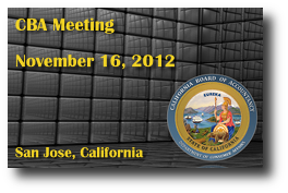 CBA Meeting - November 16, 2012