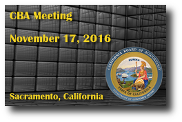 CBA Meeting - November 17, 2016