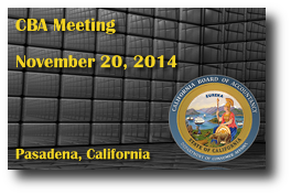 CBA Meeting - November 20, 2014