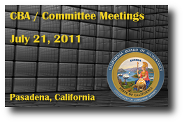 CBA / Committee Meetings - July 21, 2011
