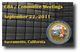 CBA / Committee Meetings - September 22, 2011