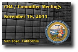 CBA / Committee Meetings - November 18, 2011