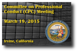 Committee on Professional Conduct (CPC) Meeting - March 19, 2015