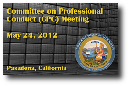 Committee on Professional Conduct (CPC) Meeting - May 24, 2012