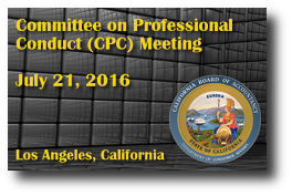 Committee on Professional Conduct (CPC) Meeting - July 21, 2016