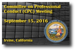 Committee on Professional Conduct (CPC) Meeting - September 15, 2016