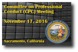 Committee on Professional Conduct (CPC) Meeting - November 17, 2016