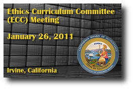 Ethics Curriculum Committee (ECC) Meeting - January 26, 2011