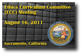 Ethics Curriculum Committee (ECC) Meeting - August 16, 2011