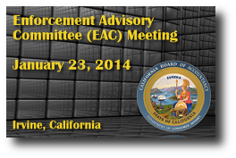Enforcement Program Oversight Committee (EPOC) Meeting - January 23, 2014