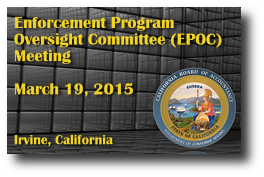 Enforcement Program Oversight Committee (EPOC) Meeting - March 19, 2015