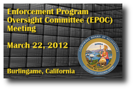 Enforcement Program Oversight Committee (EPOC) Meeting - March 22, 2012