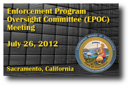 Enforcement Program Oversight Committee (EPOC) Meeting - July 26, 2012