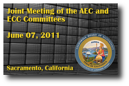 Joint Meeting of the AEC and ECC Committees - June 07, 2011