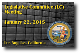 Legislative Committee (LC) Meeting - January 22, 2015