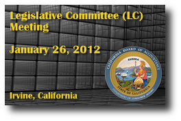 Legislative Committee (LC) Meeting - January 26, 2012