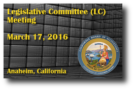 Legislative Committee (LC) Meeting - March 17, 2016