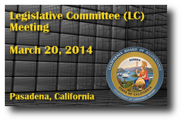 Legislative Committee (LC) Meeting - March 20, 2014