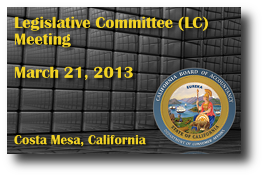 Legislative Committee (LC) Meeting - March 21, 2013