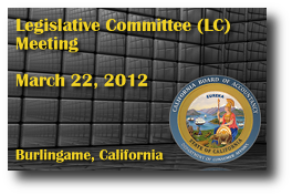 Legislative Committee (LC) Meeting - March 22, 2012