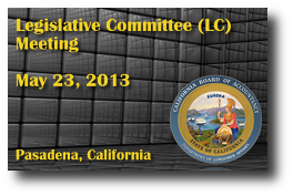 Legislative Committee (LC) Meeting - May 23, 2013