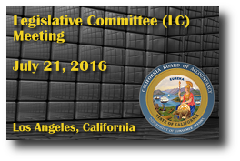 Legislative Committee (LC) Meeting - July 21, 2016