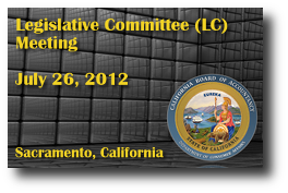 Legislative Committee (LC) Meeting - July 26, 2012